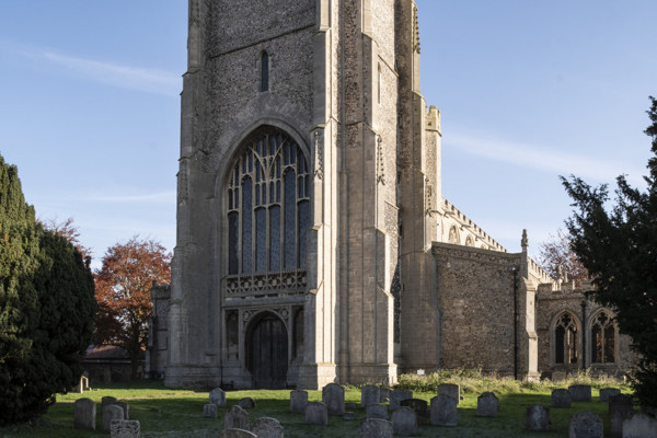 Picture of St Mary, Mildenhall, Suffolk: the west tower and entrance