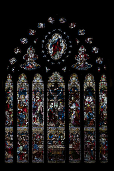 Picture of St Mary Mildenhall, Suffolk: the east window with 19th century stained glass
