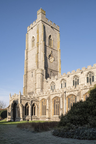 Picture of St Mary, Mildenhall, Suffolk: the tower and south porch