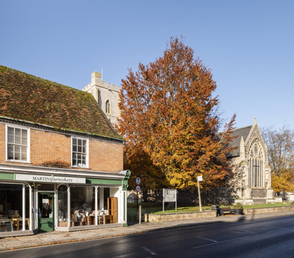 Picture of St Mary, Mildenhall, Suffolk, seen from the main road