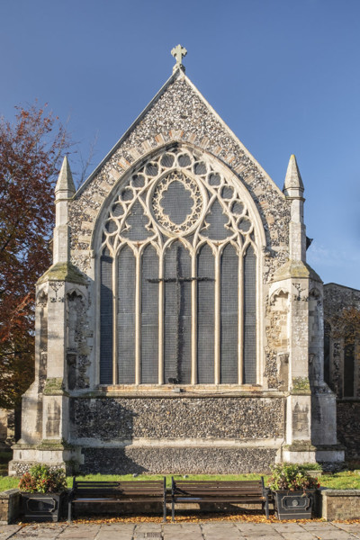 Picture of St Mary, Mildenhall, Suffolk: the east window