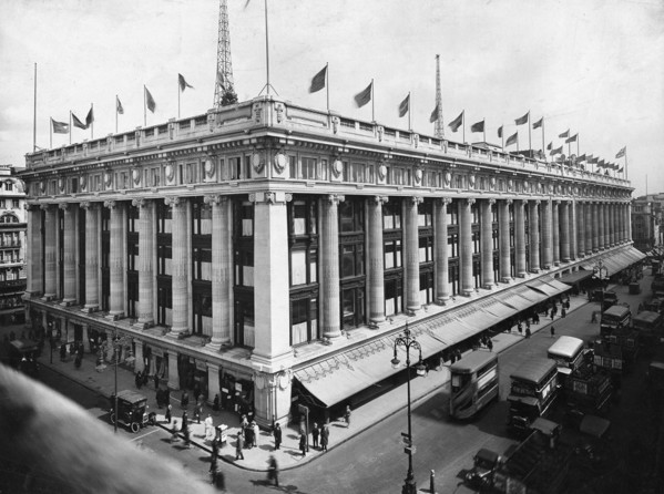 Picture of Selfridges department store, Oxford Street, London, seen from the south- west