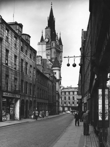 Picture of Broad Street with the tower of the Town House in the background, Aberdeen