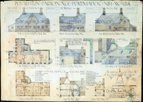 Picture of Design for the parsonage at Pentrefelin, Portmadoc