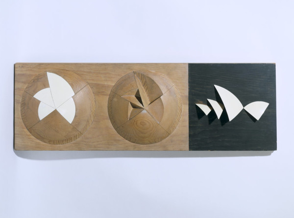 Picture of Demonstration model of Sydney Opera House, Australia, showing the geometrical solution for the opera house shells