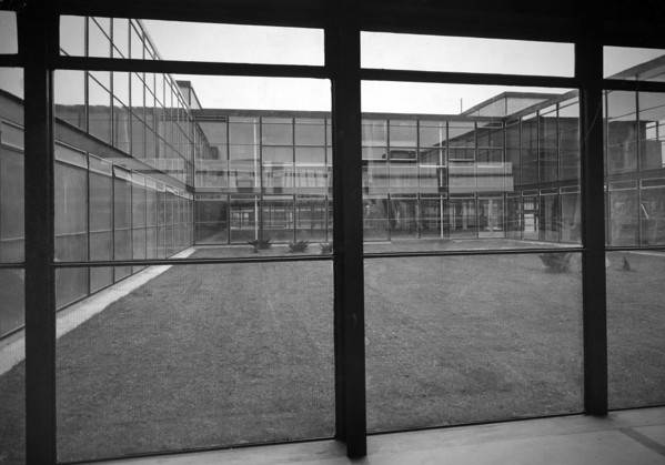 Picture of Secondary modern school, Hunstanton: one of the courtyards seen after landscaping
