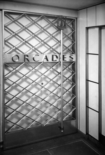 Picture of RMS Orcades II: grille door to ship's side entrance