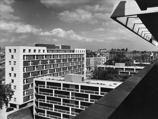 Picture of Hallfield Estate, Bishop's Bridge Road, Paddington, London: view over the estate from a balcony