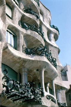 Picture of Casa Mila (La Pedrera), 92 Passeig de Gracia, Barcelona: main facade detail