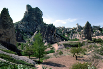 Picture of Rock pinnacles and cave dwellings near Uchisar, Cappadocia