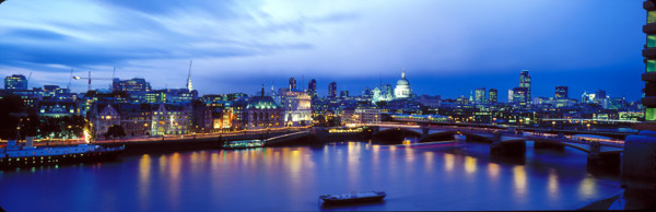 Picture of Panorama of the City of London from the OXO Tower at dusk