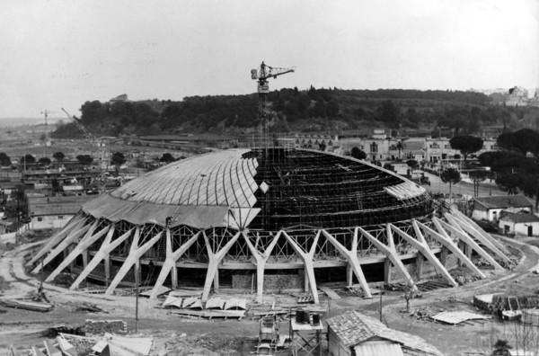 Picture of Palazzetto dello Sport, Rome, under construction