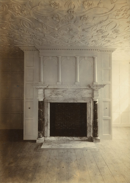 Picture of Alterations and additions for Mystole House, near Chartham, Kent: a fireplace