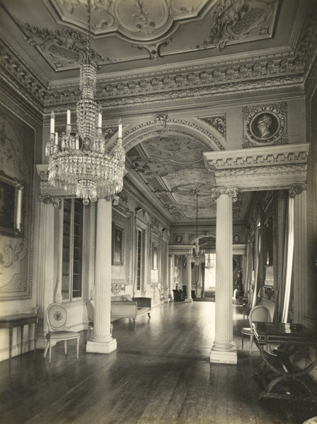 Picture of Gilling Castle, Ampleforth Preparatory School, Gilling East, North Yorkshire: the Long Gallery with elaborate plasterwork by Giuseppe Cortese