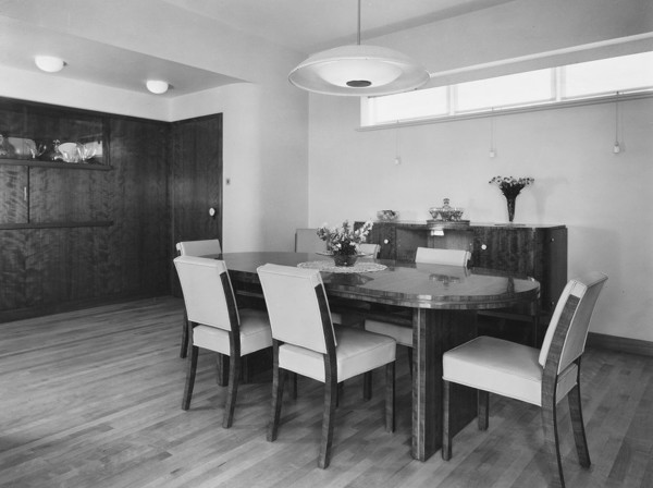 Picture of 55 Victoria Drive, Wimbledon, London: the dining room with Nigerian cherry wood panelling