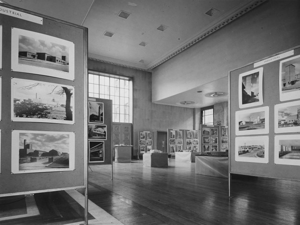 Picture of Liverpool School of Architecture exhibition held at the Royal Institute of British Architects, 66 Portland Place, London: the displays in the Florence Hall