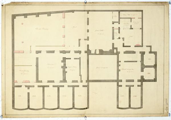 Picture of Alternative designs for the Royal Institution, Albemarle Street, London (design C): basement plan