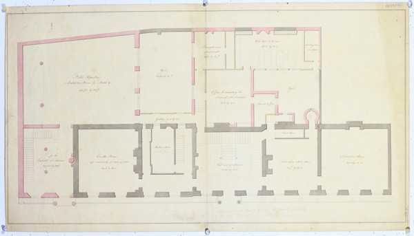 Picture of Alternative designs for the Royal Institution, Albemarle Street, London (design C): ground floor plan