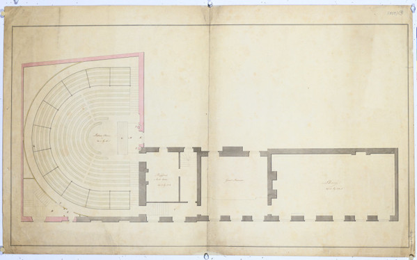Picture of Alternative designs for the Royal Institution, Albemarle Street, London (design C): first floor plan