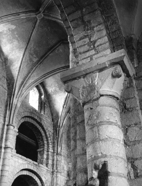 Picture of Blyth Priory, Nottinghamshire: detail of a column capital