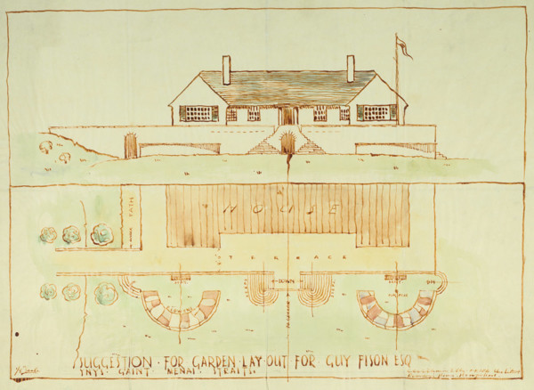 Picture of Design for a garden layout on Ynys Gaint, Menai Strait