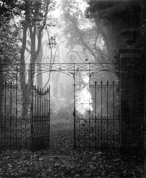Picture of Hardwick House, Bury St Edmunds, Suffolk: wrought iron gateway