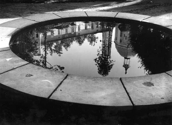 Picture of Pantheon and Chantry Row reflected in a pool, Portmeirion