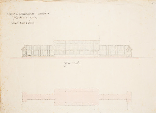 Picture of Designs for conservatories and vineries at Scarisbrick Hall, Lancashire