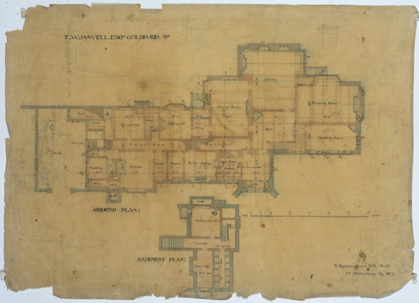 Picture of Plan for the ground floor and basement of of Piccards Rough, Guildford, Surrey