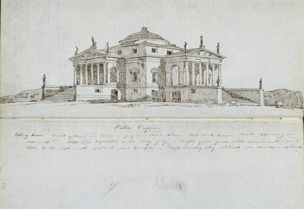 Picture of Villa Rotonda (Villa Almerico Capra), Vicenza: sketched perspective view