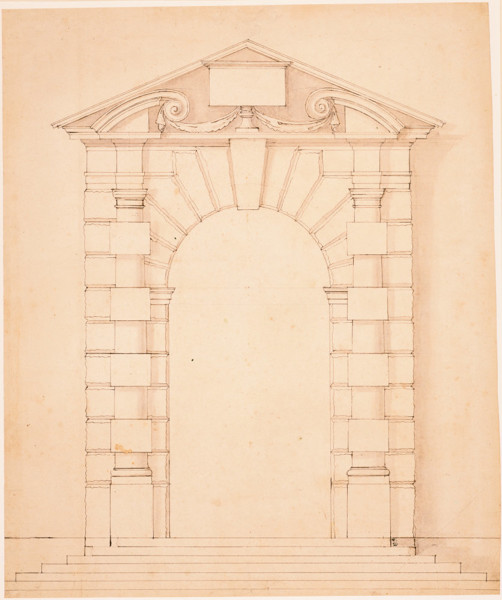 Picture of Design for the new 'Italyan' gate, Arundel House, Strand, London