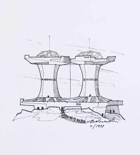 Picture of Sketch design for an arcology