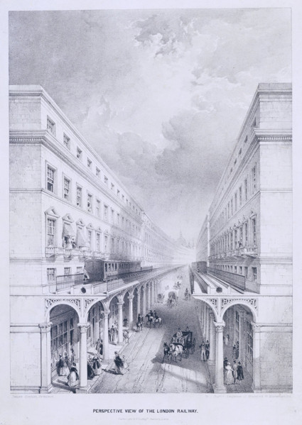 Picture of Design for a pneumatic railway, London