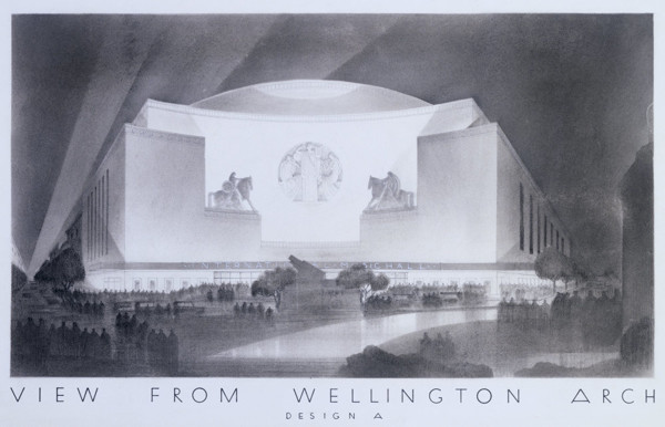Picture of Alternative design for an International Music Hall and Opera House, Hyde Park Corner, London