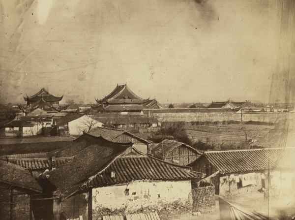 Picture of View of the Old Town and Confucian Temple (Wen Miao) looking east from the city walls, Shanghai