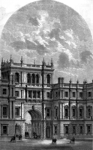 Picture of Burlington House, Piccadilly, London: Learned Societies ranges and entrance archway