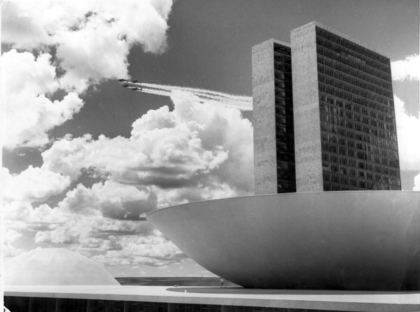 Picture of National Congress buildings, Eixo Monumental, Brasilia: the Chamber of Deputies and the Towers of Congress