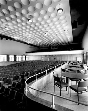 Picture of De La Warr Pavilion, Bexhill-on-Sea: the auditorium from the stage showing side balcony