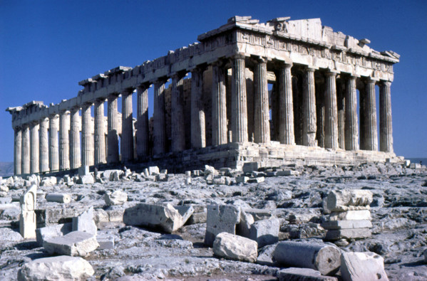 Picture of Parthenon, Acropolis, Athens, seen from the northwest