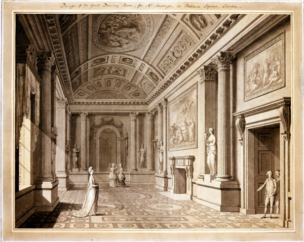Picture of Design for the Great Drawing Room in Montagu House, 22 Portland Square, London