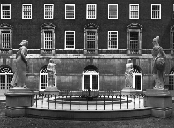 Picture of British Medical Association, Tavistock Square, Bloomsbury, London: the World War II memorial in the Court of Honour