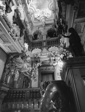 Picture of Harlaxton Manor, Lincolnshire: the Cedar Staircase