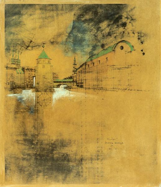 Picture of Designs for Il Teatro del Mondo, Venice: perspective