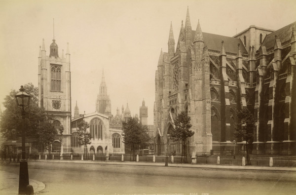 Picture of St Margaret's Church and the north transept of Westminster Abbey, Westminster, London