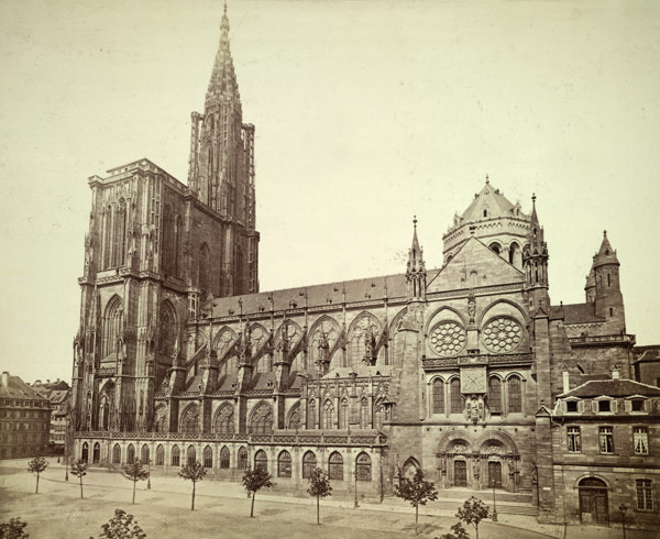 Picture of Cathedral of Notre Dame (Liebfrauenmunster zu Strasburg), Strasbourg, seen from the south
