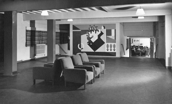 Picture of Hostel for war workers: the lounge of the Social Centre