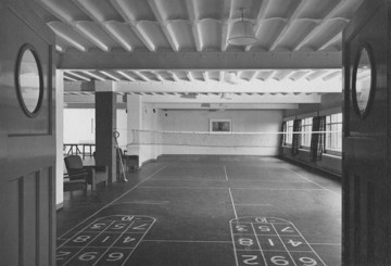 Picture of Hostel for war workers: a games room in the Social Centre