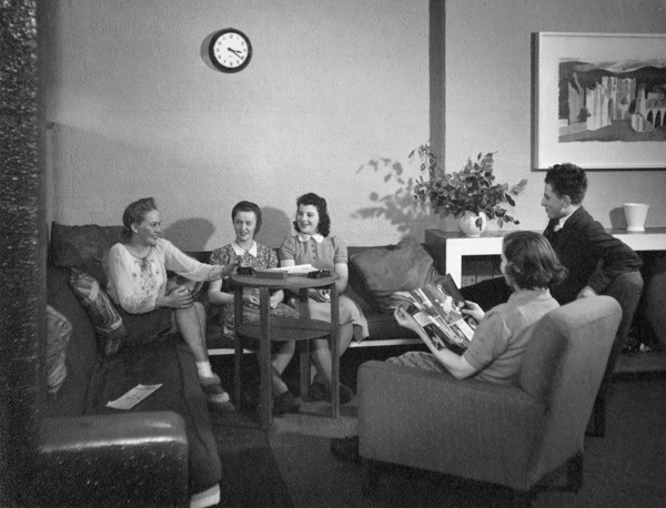 Picture of Hostel for war workers: a lounge in the Social Centre