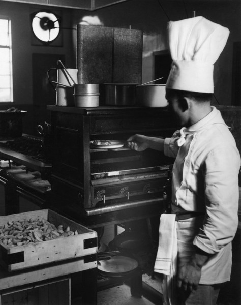Picture of ABC Regal cinema, Bridlington, East Riding of Yorkshire: the chef at work in the kitchen