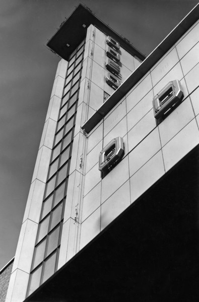 Picture of Odeon cinema, corner of Denmark Hill and Coldharbour Lane, Camberwell, London: detail of tower and signage